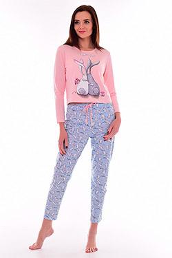 Пижама трикотажная с завышенной талией 1-191