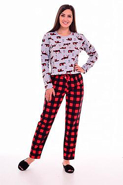 Пижама с брюками в клетку 1-192
