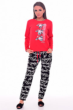 Пижама трикотажная со шнуровкой 1-197