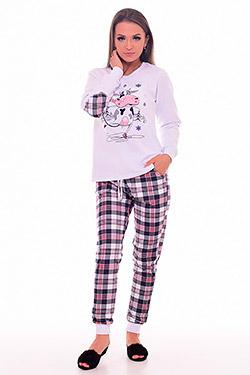 Пижама женская с декором на рукавах 1-198