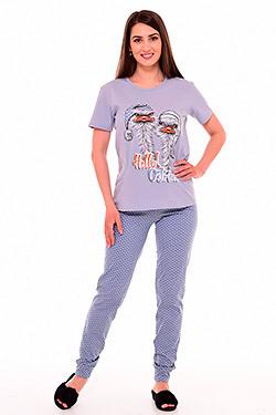 Пижама трикотажная с печатью 1-201
