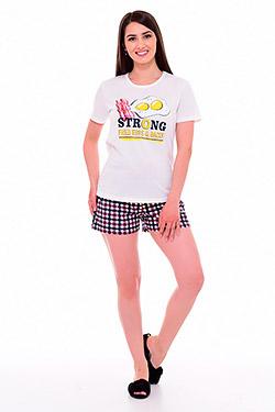 Пижама с шортами из хлопка 1-204