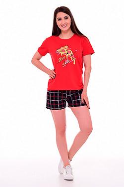 Пижама женская с модным принтом 1-206