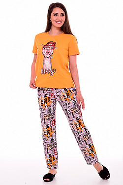 Пижама с брюками свободного кроя 1-209