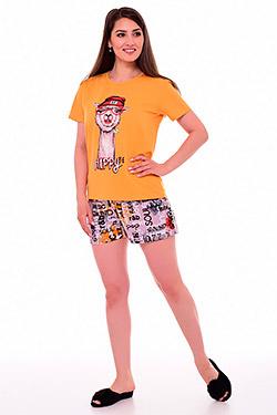 Пижама с шортами из хлопка 1-210