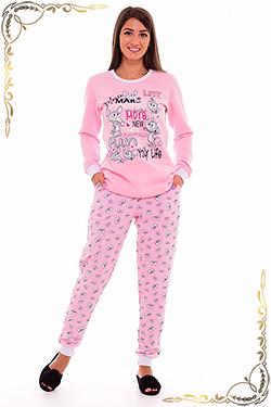 Пижама молодёжная с начесом 1-98