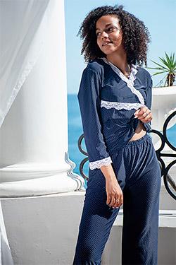 Пижама женская с брюками 10806