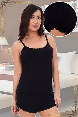 Пижама женская из вискозы с кружевом 10807
