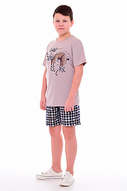 Пижама с шортами на мальчика 11-047