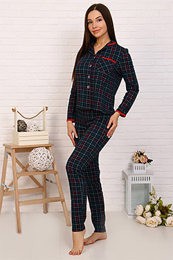 Пижама женская на пуговицах 11043