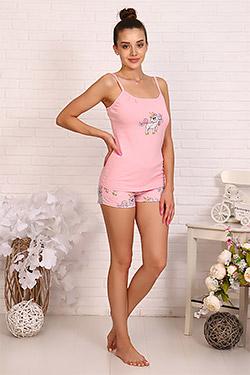 Пижама трикотажная с принтом 12319