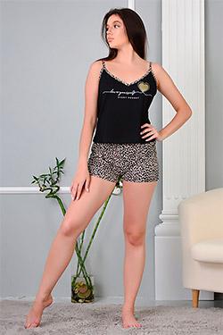 Пижама трикотажная с окантовкой 13468