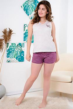 Пижама с шортами трикотажная 24403