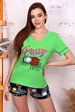 Пижама трикотажная яркой расцветки 2632