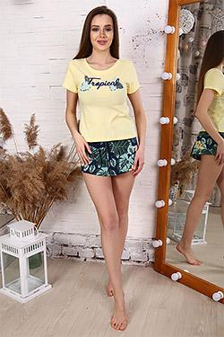 Пижама трикотажная с вырезом на спине 30507