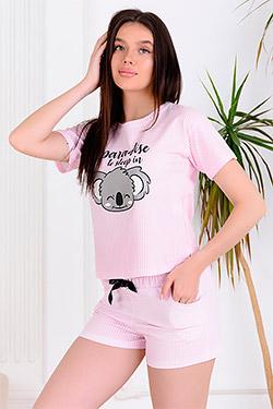 Пижама с шортами модная 30509