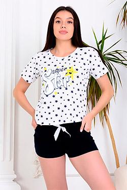Пижама с шортами с бантиком 30513