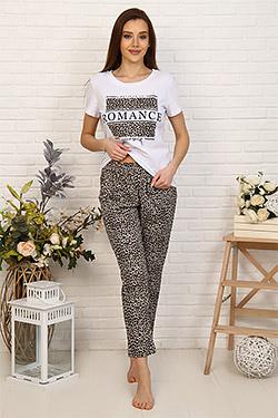 Пижама женская с леопардовым принтом 33503