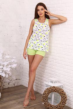 Пижама женская с майкой-борцовкой 35524