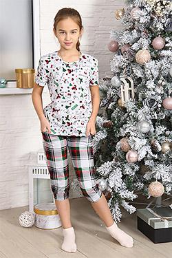 Пижама на девочку новогодней тематики 4637