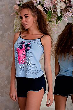 Пижама женская с ярким принтом 6318