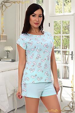 Пижама трикотажная с лампасами 6720