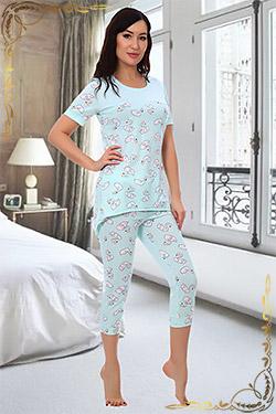 Пижама женская с рисунком 6722