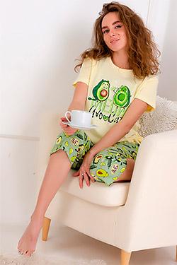 Пижама с рисунком авокадо Бусинка
