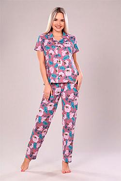 Пижама женская на пуговицах Бутон