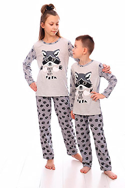 Пижама унисекс трикотажная Енот