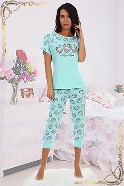 Пижама женская с бриджами Иветта