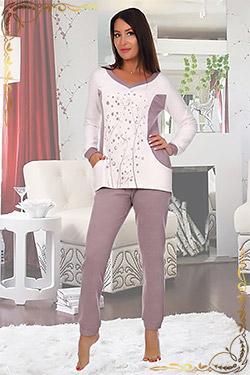 Пижама женская теплая Какао