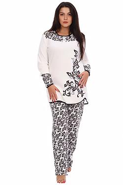Пижама утепленная из футера Лурдес