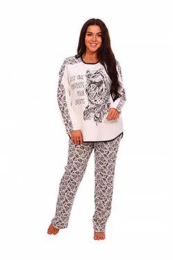 Пижама женская с принтом сова Полночь