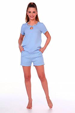 Пижама женская с вырезом капелькой Пятнышко