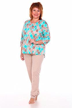 Пижама трикотажная с орнаментом Ромбы