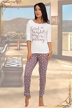 Пижама женская из хлопка Слива