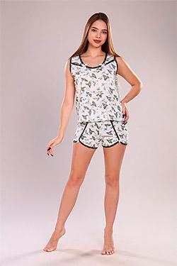 Пижама трикотажная с отделкой Жаворонок