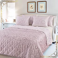 Покрывало сатин Песочные узоры 2 розовое