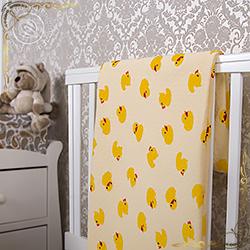 Покрывало Утенок желтое из трикотажного полотна