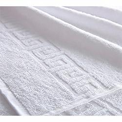 Махровое полотенце Бордюр белое