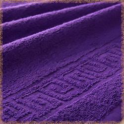 Бордюр фиолетовое махровое полотенце