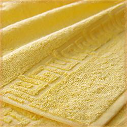 Бордюр желтое махровое полотенце
