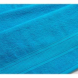 Махровое полотенце Бордюр голубое