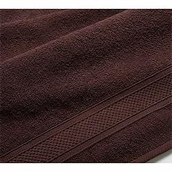 Бордюр коричневое махровое полотенце