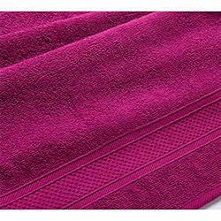 Бордюр яркая фуксия махровое полотенце