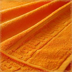Бордюр оранжевое махровое полотенце