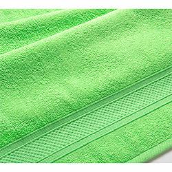 Махровое полотенце Бордюр салатовое