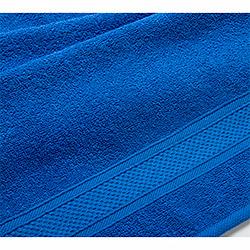 Бордюр синее махровое полотенце
