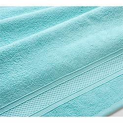 Махровое полотенце Бордюр светло-голубое